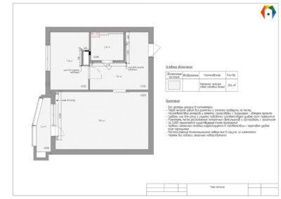 Люблинская. Фото плана потолка. Разработка дизайн проекта