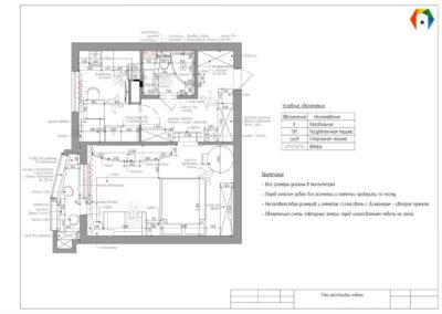 Люблинская. Фото плана расстановки мебели. Разработка дизайн проекта