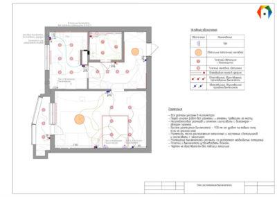 Люблинская. Фото плана расположения выключателей. Разработка дизайн проекта