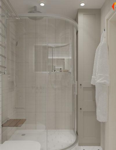 Люблинская. Фото визуализации ванной комнаты. Фото визуализации санузла. Разработка дизайн проекта