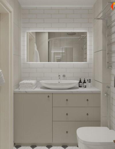 Люблинская. Визуализация ванной комнаты
