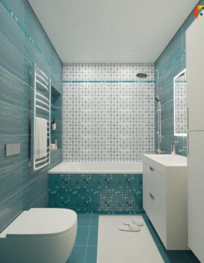 Реутов. Фото визуализации ванной комнаты. Разработка дизайн проекта