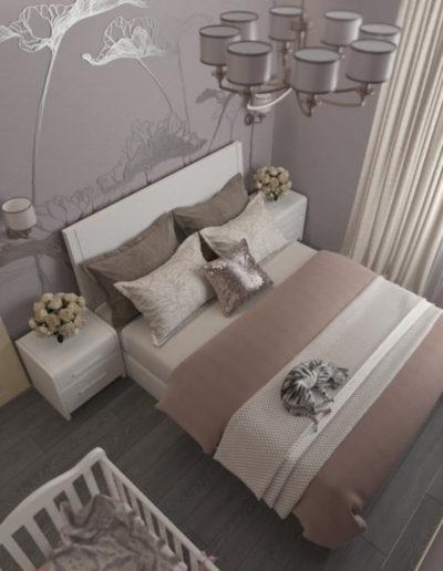 Реутов. Фото визуализации спальни. Разработка дизайн проекта