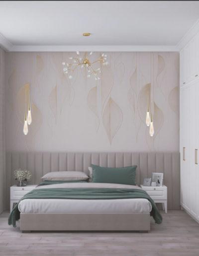 Рублевское шоссе. Фото визуализации спальни. Разработка дизайн проекта