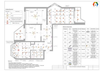 Седова. Фото плана расположения источников освещения. Разработка дизайн проекта