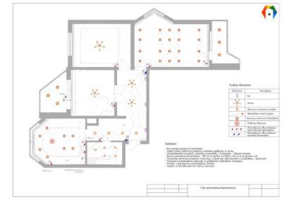 Седова. Фото плана расположения выключателей. Разработка дизайн проекта