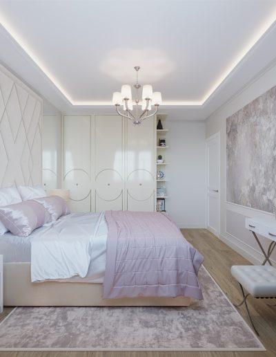 Седова. Фото визуализации спальни. Разработка дизайн проекта