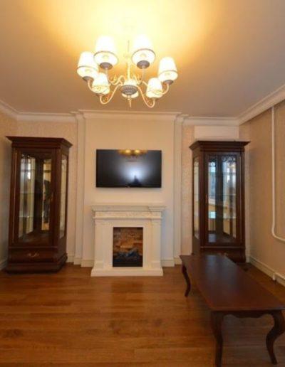 Новокосино. Фото зоны гостиной. Фото гостиной. Фото завершенного ремонта. Ремонт гостиной. Ремонт квартиры