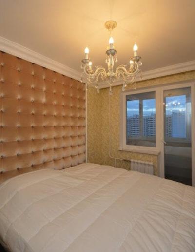 Новокосино. Фото зоны спальни. Фото спальни. Фото завершенного ремонта. Ремонт спальни. Ремонт квартиры