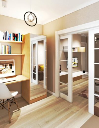 Березовая аллея. Фото визуализации гостиной. Визуализация гостиной. Гостиная. Разработка дизайн проекта