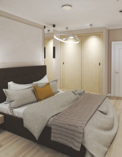 Березовая аллея. Фото визуализации спальни. Визуализация спальни. Спальня. Разработка дизайн проекта