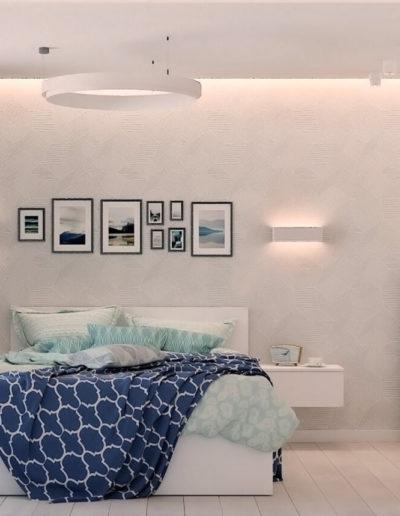 Дмитровское шоссе. Фото визуализации спальни. Визуализация спальни. Спальня. Разработка дизайн проекта