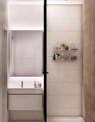 Дмитровское шоссе. Фото визуализации ванной. Визуализация ванной. Ванная комната. Разработка дизайн проекта