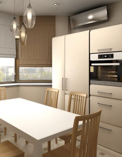 Королёв. Фото визуализации кухни. Разработка дизайн проекта