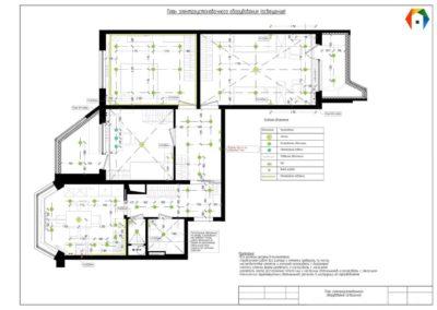 Королёв. Фото плана электроустановочного оборудования (освещения). Технический план электроустановочного оборудования (освещение)