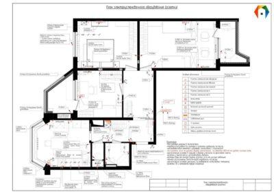 Королёв. Фото плана электроустановочного оборудования (розеток). Технический план электроустаночного оборудования (розетки). Разработка дизайн проекта