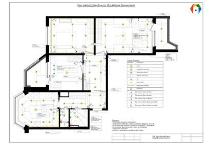 Королёв. Фото плана электроустановочного оборудования (выключателей). Технический план электроустановочного оборудования (выключатели)