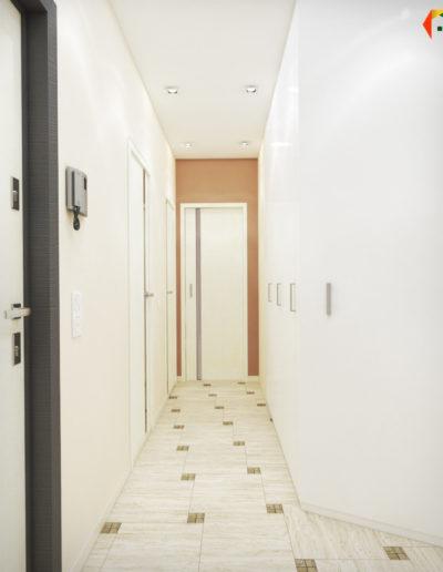 Королёв. Фото визуализации прихожей и коридора. Фото визуализации прихожей. Фото визуализации коридора Разработка дизайн проекта