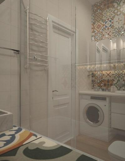 Красноказарменная. Фото визуализации ванной комнаты. Визуализация ванной. Ванная комната. Разработка дизайн проекта