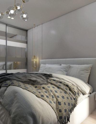Осенний бульвар. Фото визуализации спальни. Визуализация спальни. Спальня. Разработка дизайн проекта