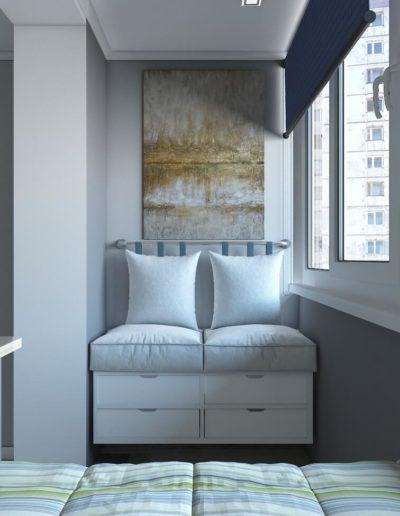 Винницкая. Фото визуализации балкона. Визуализация балкона. Балкон. Разработка дизайн проекта