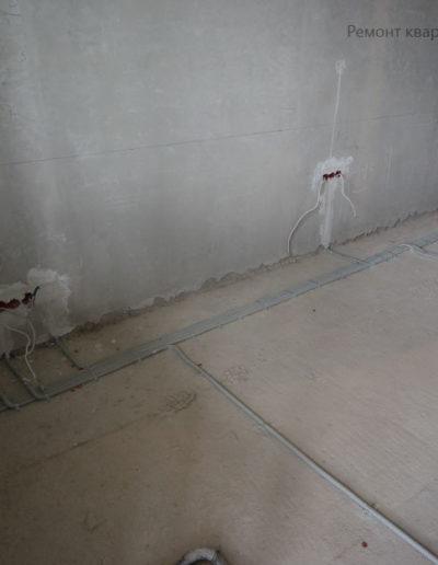 ЖК.Скай Форт. Прокладка провода в гофру. Электромонтажные работы