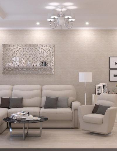Чонгарский бульвар. Фото визуализации гостиной. Визуализация гостиной. Гостиная. Разработка дизайн проекта. Дизайн-проект квартиры