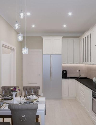 Чонгарский бульвар. Фото визуализации кухни. Визуализация кухни. Кухня. Разработка дизайн проекта. Дизайн-проект квартиры