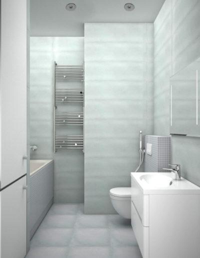 Чонгарский бульвар. Фото визуализации ванной комнаты. Фото визуализации санузла. Визуализация ванной. Визуализация санузла. Ванная комната. Санузел. Разработка дизайн проекта. Дизайн-проект квартиры