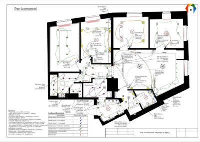 Бульвар Генерала Карбышева. Фото плана расположения выключателей. План расположения электроустановочного оборудования (выключатели). План выключателей. Технический план. Разработка дизайн проекта. Дизайн-проект квартиры