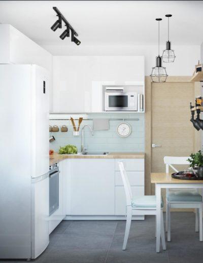 Химкинский бульвар. Фото визуализации кухни. Визуализация кухни. Кухня. Разработка дизайн проекта. Дизайн-проект квартиры