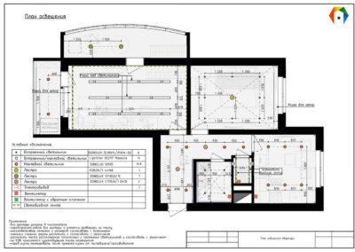 Лихачевский проспект. Фото плана освещения. План освещения. Разработка дизайн проекта. Дизайн-проект квартиры