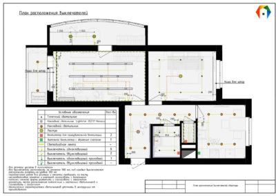 Лихачевский проспект. Фото плана расположения выключателей. План расположения выключателей. Разработка дизайн проекта. Дизайн-проект квартиры