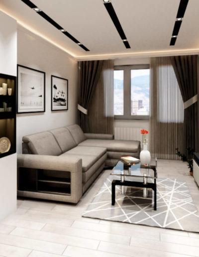 Лихачевский проспект. Фото визуализации гостиной. Визуализация гостиной. Гостиная. Разработка дизайн проекта. Дизайн-проект