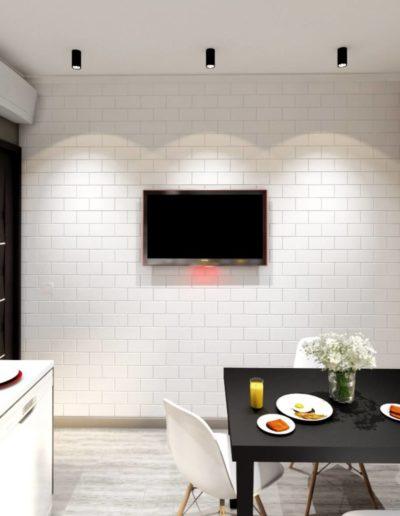 Лихачевский проспект. Фото визуализации кухни. Визуализация кухни. Кухня. Разработка дизайн проекта. Дизайн-проект квартиры