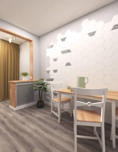 Лучи. Фото визуализации кухни. Визуализация кухни. Кухня. Разработка дизайн проекта. Дизайн-проект