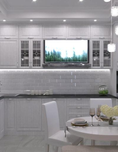 Производственная. Фото визуализации кухни. Визуализация кухни. Кухня. Разработка дизайн проекта