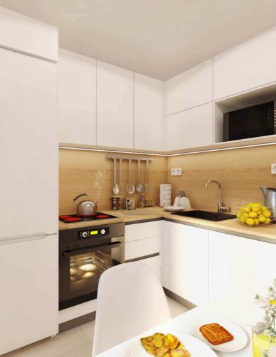 Северный бульвар. Фото визуализации кухни. Визуализация кухни. Кухня. Разработка дизайн проекта. Дизайн-проект