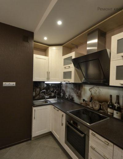 Зябликово. Фото завершенного ремонта кухни. Фото кухни после ремонта. Ремонт под ключ. Ремонт квартиры. Кухня