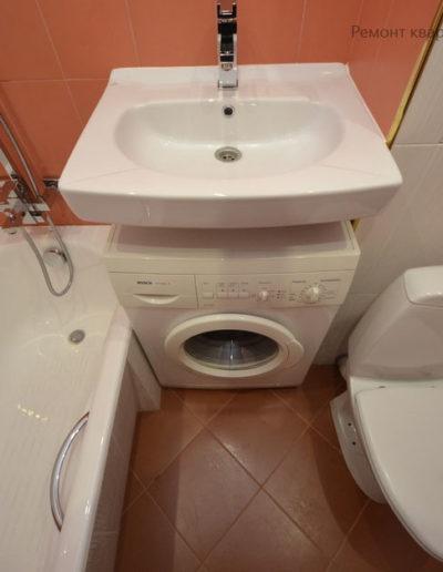 Алтуфьевское шоссе. Фото завершенного ремонта квартиры. Ремонт квартиры под ключ. Фото завершенного ремонта ванной комнаты. Фото ремонта совмещенной ванной и туалета. Ванная комната. Санузел. Туалет