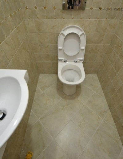 Теплый стан. Виноградова. Фото завершенного ремонта туалета. Фото завершенного ремонта санузла. Ремонт квартиры. Фото ремонтных работ