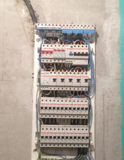 Каширское шоссе. Фото электрощита. Фото электроустановочного оборудования. Процесс создания ремонта