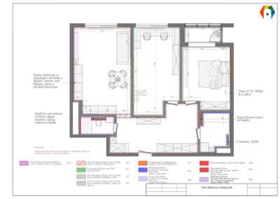 Серебрякова. Фото плана отделочных материалов. План отделочных материалов. Разработка дизайн проекта. дизайн-проект квартиры