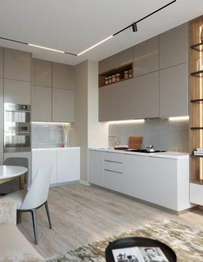 Серебрякова. Фото визуализации кухни-гостиной. Фото визуализации кухни. Фото визуализации гостиной. Визуализация кухни-гостиной. Визуализация кухни. Визуализация гостиной. Кухня-гостиная. Кухня. Гостиная. разработка дизайн проекта. Дизайн-проект квартиры