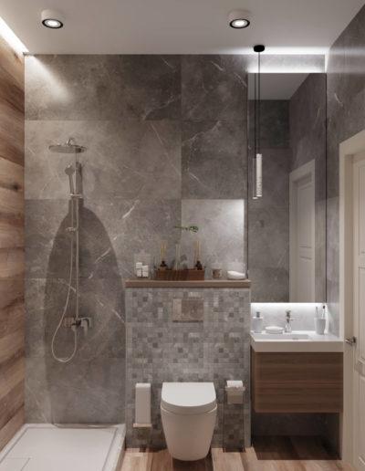 Серебрякова. Фото визуализации ванной. Фото визуализации санузла. Визуализация ванной. Визуализация санузла. Ванная комната. Санузел. Разработка дизайн проекта. Дизайн-проект квартиры