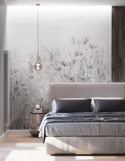 Серебрякова. Фото визуализации спальни. Визуализация спальни. Спальня. Разработка дизайн проекта. Дизайн-проект квартиры