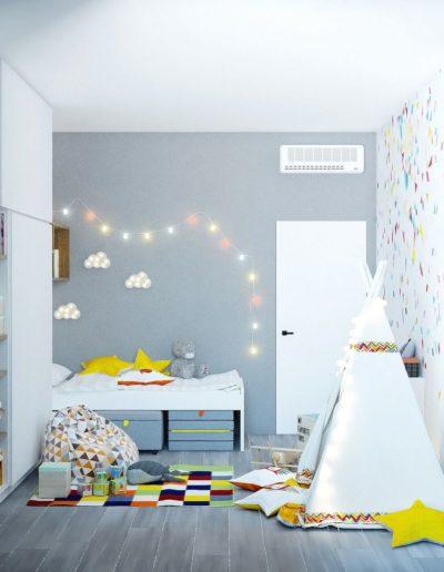 Волоколамское шоссе. Фото визуализации детской. Визуализация детской. Детская комната. Разработка дизайн проекта. Дизайн-проект квартиры
