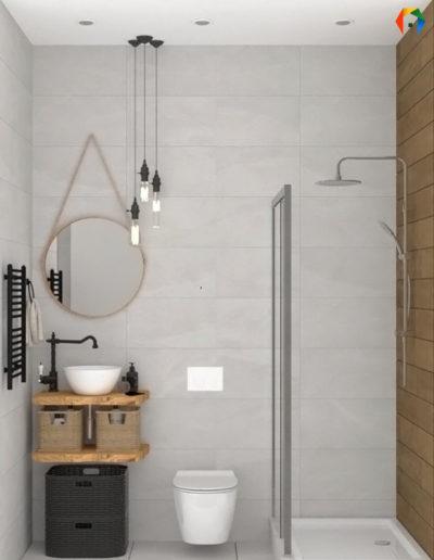 Волоколамское шоссе. Фото визуализации ванной. Фото визуализации санузла. Визуализация ванной. Визуализация санузла. Ванная комната. Санузел. Разработка дизайн проекта. Дизайн-проект квартиры