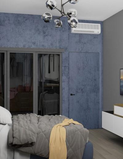 Волоколамское шоссе. Фото визуализации спальни. Визуализация спальни. Спальня. Разработка дизайн проекта. Дизайн-проект квартиры