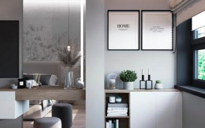Серебрякова. Дизайн проект 2-х комнатной квартиры в новостройке